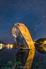 SS Charcot at Night (Greg Noel) Tags: ocean longexposure reflection water night newfoundland stars shipwreck astrophotography eastcoast newfoundlandandlabrador astroscape