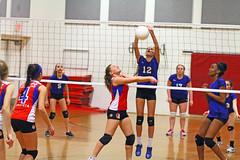 IMG_8492 (SJH Foto) Tags: girls net jump shot action battle teen teenager spike midair block tween teenage
