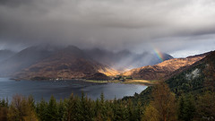 Light on Loch Duich (Tony N.) Tags: trees light mountains clouds scotland highlands rainbow europe lumire arbres loch nuages arcenciel montagnes ecosse duich lochduich d810 tonyn nikkor1635f4 tonynunkovics