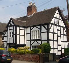 [39461] Repton : Tudor Lodge (Budby) Tags: house blackwhite derbyshire 16thcentury timbered repton