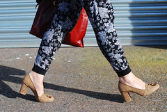 Paisley print joggers with block heeled loafers | Not Dressed As lamb (Not Dressed As Lamb) Tags: autumn winter fashion over style layers 40 fashionista layering