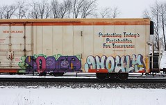 Soner/Ghouly (quiet-silence) Tags: railroad art train graffiti railcar graff d30 freight reefer ghoul wh fr8 cryx cryo soner a2m ghouly cryotrans cryx5171