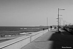 Beach Rethymnon (Eleanna Kounoupa) Tags: street sea blackandwhite bw beach greece crete rethymnon     blackwhitephotos