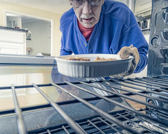 Culinary Portrait (augphoto) Tags: people food selfportrait man cooking kitchen person unitedstates oven selfie mikeme augphotoimagery