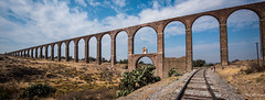 2016 - Mexico - Tembleque Aqueducto - 7 of 15 (Ted's photos - Returns mid May) Tags: railroad cacti mexico high traintracks tracks railway arches unescoworldheritagesite unesco aqueduct ravine cropped vignetting span 2016 aqueducto spanning tedsphotosmexico fathertembleque papaloteravine fathertemblequeaquaduct