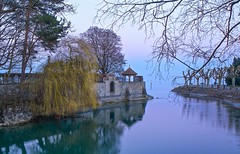 Early Evening - Konstanz (paulapics2) Tags: lake holiday tree nature water reflections pastel willow canon5d bodensee konstanz badenwurttemberg lakeconstance
