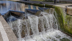 Thames Walk April 2016 (8 of 14) (johnlinford) Tags: urban london water thames canal regentscanal hdr thamespath weir canonefs1022 canoneos7d