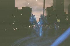 (TheKinkyKid) Tags: street city blue people urban color film azul night analog 35mm dark mexico photography iso100 noche photo calle holga lomography kodak flash lofi streetphotography urbanexploration pointandshoot urbano fotografia nite bestfriends bestie multiexposure kodakproimage100 filmphotography fotografiaurbana mejoramigo analogo cdmx lomowalk holgak200nm