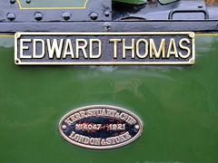 Edward Thomas name and works plates (davids pix) Tags: thomas 4 railway stuart severn edward valley gauge narrow kerr talyllyn 2016 corris 4047 19032016