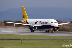 Monarch Airlines --- Airbus A320 --- G-ZBAH (Drinu C) Tags: man plane aircraft aviation sony airbus dsc a320 egcc monarchairlines hx100v adrianciliaphotography gzbah