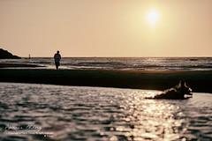 Waiting. Xianxi, Taiwan  ( (Morris)) Tags: ocean blue sunset red people orange cloud green nikon outdoor             d7100