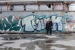 think (revorgogram) Tags: selfportrait abandoned factory grafitti urbandecay cleveland think leftbehind abandonedstructure abandonedfactory