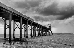 The old wharf (Anders V) Tags: sea sky blackandwhite bw storm nature newcastle pier australia mining wharf newsouthwales lakemacquarie catherinehillbay nikond7100