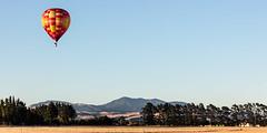 Mountain morning (A Different Perspective) Tags: newzealand wairarapa air balloon blue fiesta hot morning rainbow sky yellow