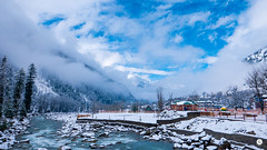 It's not much, but it's home. (adityarajmehta) Tags: snow water beautiful river landscape stream long exposure heaven paradise earth silk lee kashmir filters hdr breathtaking unbelievable sonmarg d810 nd1000