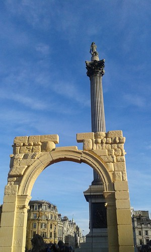 Palmyra Arch of Triumph recreated in London 2