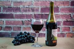 Red Wine (photographyfun71) Tags: stilllife nikon wine grapes wineglass redwine winebottle