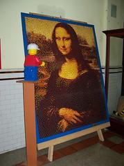 OH Bellaire - Toy & Plastic Brick Museum 51 (scottamus) Tags: ohio sculpture statue lego display monalisa roadside bellaire attraction belmontcounty toyplasticbrickmuseum