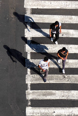 Abbey Road ? (Mexico City) (Carolbreeze99) Tags: road street people mexico mexicocity crossing shadows walk stripes fromabove lookingdown zebracrossing