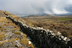 Disappearing wall (Adrian Costigan.) Tags: ireland irish mountain nature wall canon landscape scenery rocks clare outdoor hill scenic burren rugged eon