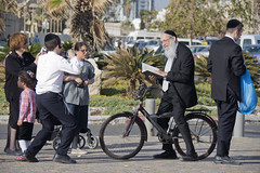 Tora always (Dan_lazar) Tags: holiday water port religious israel tel aviv  celebration rabbi orthodox  bycicle passover tora