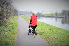 Babies first run (cypriotliljoe) Tags: baby canal running pushchair icandy