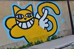 Monsieur Chat_1640 rue Croulebarbe Paris 13 (meuh1246) Tags: streetart paris chat animaux paris13 monsieurchat ruecroulebarbe