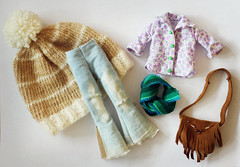 Hippie clothing set for Blythe