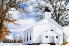 Country Church (travelphotographer2003) Tags: winter usa white snow cold building church beauty solitude faith westvirginia serenity majestic aglow appalachianmountains alleghenymountains beautyinnature webstercounty oaktress