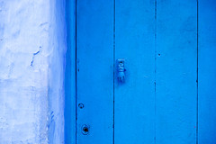 Hand of Fatima (Rebecca Thomas of North Carolina (!)) Tags: door blue morocco chefchaouen shadesofblue handoffatima