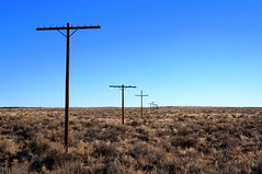Telegraph Poles along abandoned Route 66 by mattk1979, on Flickr