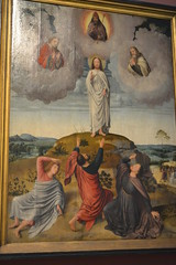 Detail from the central panel of the Triptych of the Transfiguration of Jesus on Mount Tabor by Gerard David, 1500. (greentool2002) Tags: from our david detail church by lady triptych panel lieve jesus central mount tabor bruges 1500 gerard transfiguration onze vrouwekirk