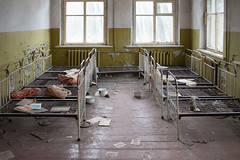 (J Schmetzer) Tags: travel abandoned beds decay ukraine kindergarten derelict kyiv chernobyl pripyat