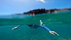 Underwater (minimi007) Tags: sea summer green water sunshine outdoors hawaii us day underwater diving bluesky maui scubadiving blueskies lanai watersport gopro goprohero kesa snorkeln gopro4 gopro4black