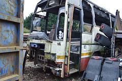 Plaxton Paramount 3500 (PD3.) Tags: uk travel england west sussex bosham coach tiger hampshire solent wreck scrap coaches paramount leyland psv normans pcv 3500 scrapped hants havant plaxton chidham