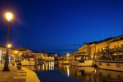 Blue Hour (giovannispina31) Tags: sunset sea italy water twilight italia mare bluehour canale cesenatico