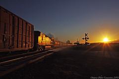 9427 (ontario photo connection) Tags: railroad cn train sunrise railway transportation rails darlington locomotive locomotives durhamregion courtice canadiannationalrailway kingstonsub