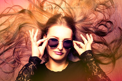 Portrait (ellenvdphotography) Tags: autumn summer inspiration art love girl beauty dutch sunglasses fashion photoshop work studio lights glasses nikon longhair warmth makeup like happiness follow health select feelings playingwithlight followme vsco