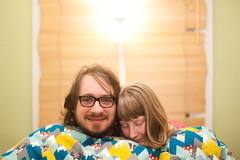 Day 58, Year 9. (evilibby) Tags: jack evening bed couple content libby 365 duvet 365days 3659 365days9