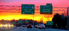(timetomakethepasta) Tags: new york morning signs west sunrise airport buffalo highway driving montreal south saratoga north upstate commute albany interstate exit 20 90 automobiles 87 intl thruway