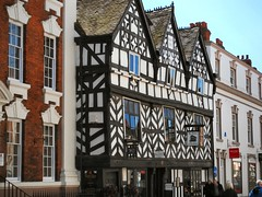 Old. (John McLinden) Tags: street building shop architecture shops staffordshire lichfield timbered