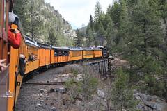 You're in my shot (Shiny Things) Tags: railroad usa train colorado silverton tourists sanjuan durango