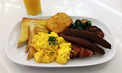 (mblaeck) Tags: food breakfast tomato mushrooms bacon yum toast sausage samsung delicious whitebackground meal orangejuice spinach scrambledeggs hashbrown bigbreakfast foodphotography takenwithphone gs5 foodonwhiteplate takenwithmobile takenwithsamsung samsunggalaxys5 galaxys5 foodonwhite
