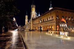 Pilar Square at night, Zaragoza (mixtli1965) Tags: pilar noche lluvia nikon zaragoza plazadelpilar reflejo perspectiva ayuntamiento mojado d7100 tokina1116mmf28