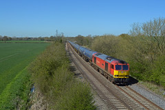 60019 6E54 kingsbury to humber oil terminal passing arleston near barrow on trent (I.Wright Photography over 2 million views thanks) Tags: near terminal trent oil passing barrow kingsbury humber arleston 60019 6e54