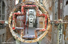 Optical Delusion (Trish Mayo) Tags: bars gate ruin medical prison redcross infirmary easternstatepenitentiary penitentiary thebestofday gnneniyisi