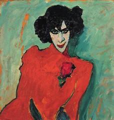 Portrait of Alexander Sakharoff, 1909 // by Alexej von Jawlensky (mike catalonian) Tags: portrait male female germany painting halflength 1900s 1909 alexejvonjawlensky