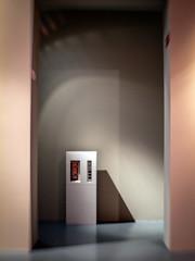 The Box (Anne Worner) Tags: pink blue shadow stilllife abstract lensbaby lowlight shadows floor framed olympus framing curved castshadow curving foundstilllife lysverket e620 sweet35 anneworner humiditycontroller