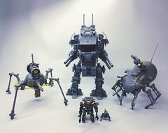 Mecha Light Grey Force (SuperHardcoreDave) Tags: war lego future scifi mecha mech moc