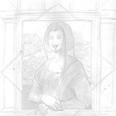 Maruja Mallo meets L.H.O.O.Q. (Loony Rotten) Tags: pencil sketch drawing workinprogress dibujo duchamp 20s boceto lpiz mallo lhooq maruja monocromtico